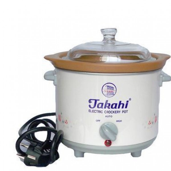 Takahi Slow Cooker Panci Tembikar Electric