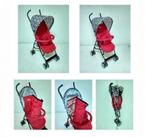 Stroller Happy Dino LD266 Merah